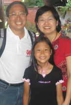 Rev Charles, Molly and Annabel Chua